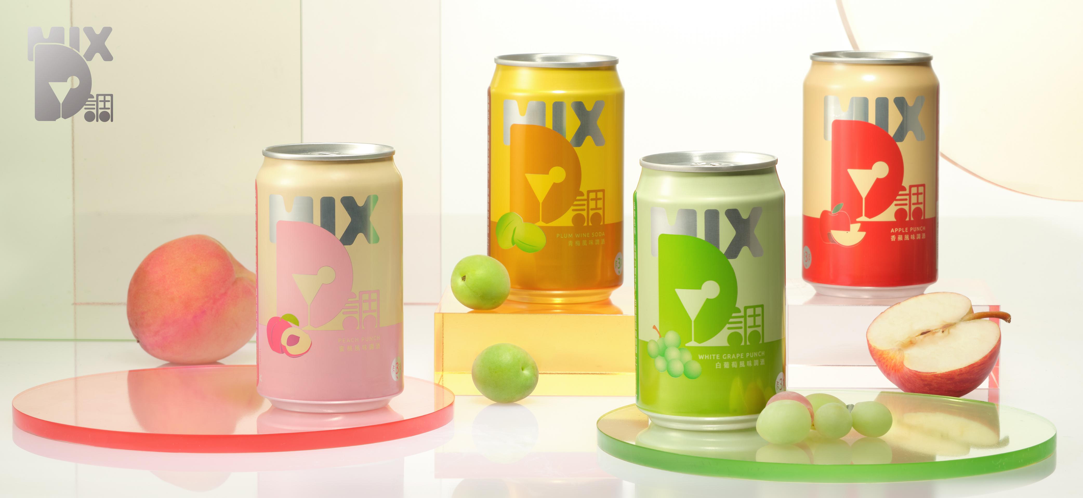 今晚想來點清爽香甜的微醺滋味!台啤重磅推出「微醺D調系列(MixD)」五款風味調酒限定通路搶先上市